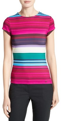 Women's Ted Baker London Blushing Stripe Fitted Tee $79 thestylecure.com