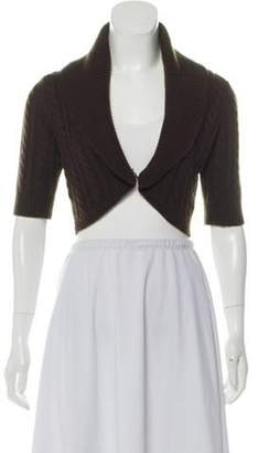 Michael Kors Cable Knit Shrug Brown Cable Knit Shrug