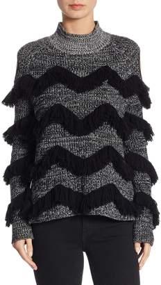 Zoe Jordan Hawking Cashmere-Blend Cold-Shoulder Sweater