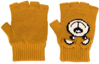 Moschino teddy fingerless gloves