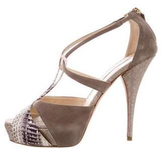 Oscar de la Renta Cutout Platform Sandals
