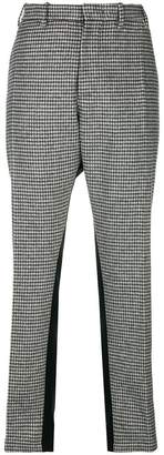 No.21 checked side stripe trousers