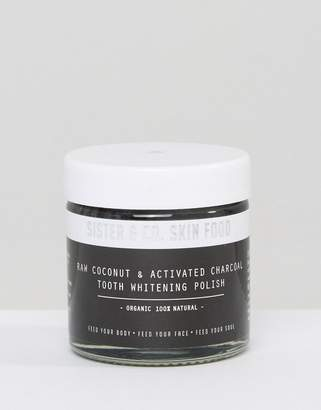 Co Sister & Sister & Raw Coconut & Activated Charcoal Tooth Whitening Polish 60ml