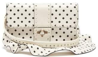 Valentino Very V Rockstud Leather Cross Body Bag - Womens - White Black