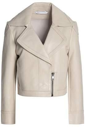 Diane von Furstenberg Leather Biker Jacket