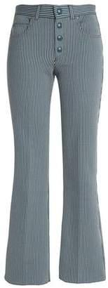 Sonia Rykiel Pinstriped Cotton-Blend Twill Bootcut Jeans