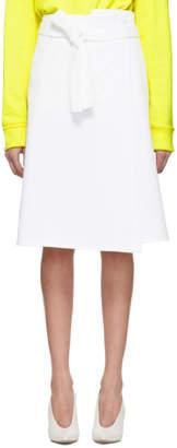 A-Plan-Application White Denim Wrap Skirt
