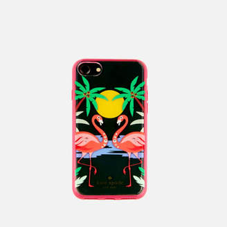 Kate Spade Women's Jewelled Flamingos iPhone 8 Cover - Clear/Multi