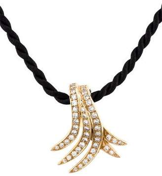 14K Diamond Pendant Cord Necklace