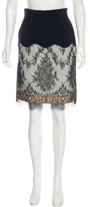 Alessandro Dell'Acqua Lace Pencil Skirt Black Lace Pencil Skirt