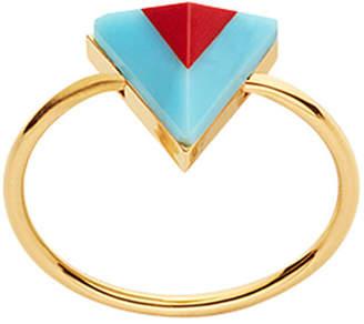 Fendi Rainbow two-tone ring