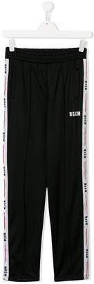 MSGM Kids TEEN side-striped track pants