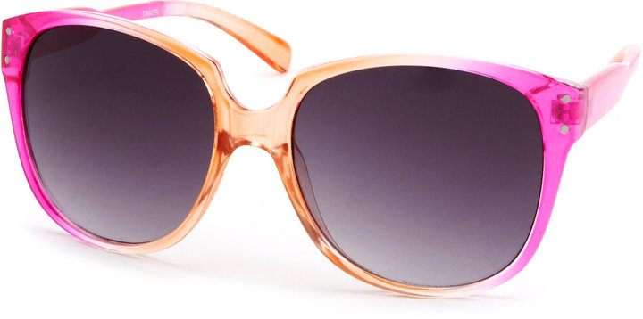 Charlotte Russe Peachy Keen Ombre Sunglasses