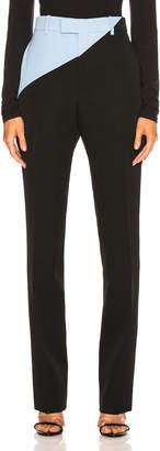 Calvin Klein Asymmetric Trousers in Black & Shadow Blue   FWRD
