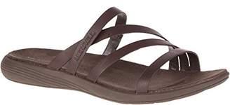 Merrell Women's Duskair Seaway Leather Slide Sandal