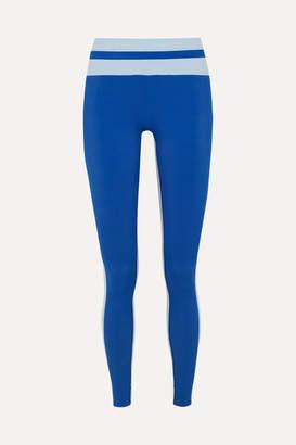 Vaara Flo Tuxedo Striped Stretch Leggings - Blue