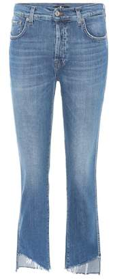 7 For All Mankind Edie high-rise straight jeans