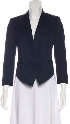 Helmut Lang Shawl Collar Asymmetrical Blazer