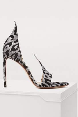 Francesco Russo Leopard sandals