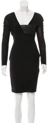 Blumarine Long Sleeve Bodycon Dress