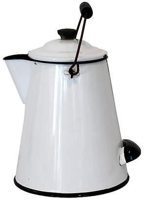 One Kings Lane Vintage Belmont Enamel Coffeepot