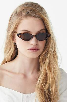 b29454bd60 at Urban Outfitters · Urban Outfitters Nova Slim Cat-Eye Sunglasses