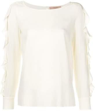 Twin-Set ruffled sleeve blouse