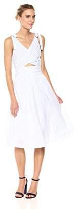ASTR the Label Women's Nadine Sleeveless Cut-Out Striped Midi Dress