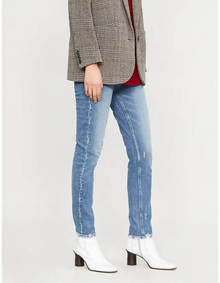 Paige Hoxton faded skinny high-rise jeans