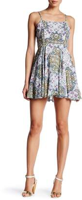 Raga Sunset Gold Flare Dress