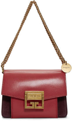 Givenchy Red and Burgundy Mini GV3 Shoulder Bag