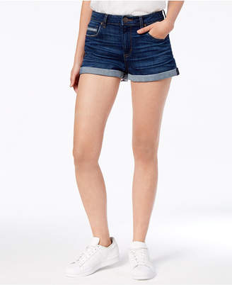 STS Blue Rose Bowl High Rise Double Roll Hem Shorts