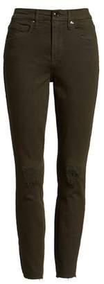 Good American Good Legs Ripped Raw Edge Skinny Jeans