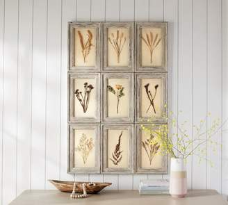 Pottery Barn Aiden Pressed Florals Wall Art