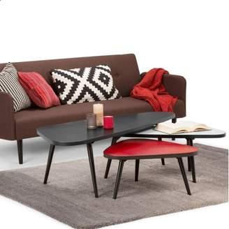 Simpli Home Aubrey 3 Pc Nesting Coffee Table Set- DISCONTINUED