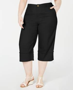 Style&Co. Style & Co Plus Size Frayed-Trim Capris, Created for Macy's