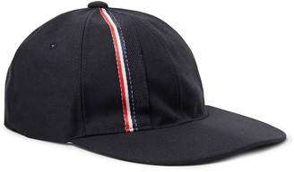Thom Browne Striped Selvedge-Trimmed Wool and Mohair-Blend Baseball Cap - Men - Blue