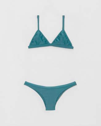 Haight Blue Topaz Taping Triangle Bikini