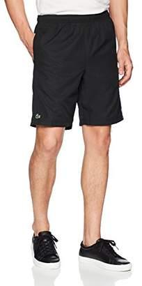 "Lacoste Men's 8"" Woven Short with Multi Stripe Detail"