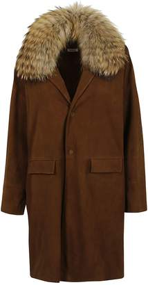 P.A.R.O.S.H. Raccoon Fur Collar Coat