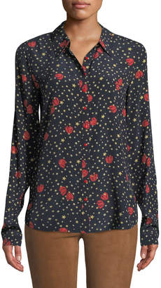 MiH Jeans Evlyn Star-Print Button-Front Top