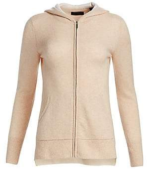 Saks Fifth Avenue Women's COLLECTION Two-Tone Cashmere Hoodie