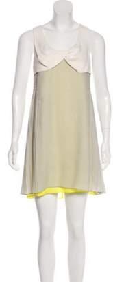 Alexander Wang Scoop Neck Mini Dress Grey Scoop Neck Mini Dress