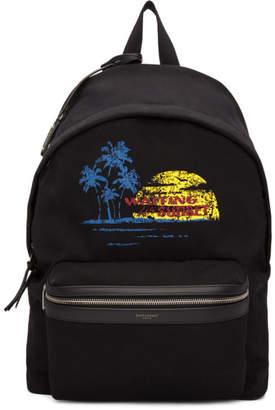 Saint Laurent Black Sunset Backpack