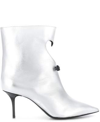 MSGM cut-out heart metallic boots