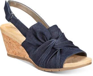 Bandolino Gayla Slingback Wedge Sandals