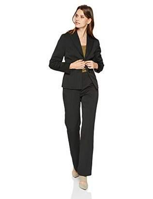 Le Suit Women's 2 Button Peak Lapel Pinstripe Pant