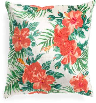 Made In India 22x22 Velvet Tropical Pillow