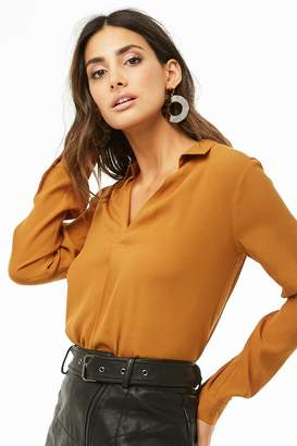 Forever 21 Split Neck Top