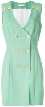 Pierre Balmain V-neck button over dress